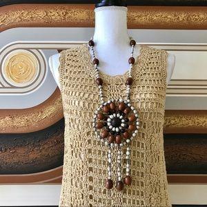 DVF Gold Crochet Sleeveless Mini Zacharie Dress S